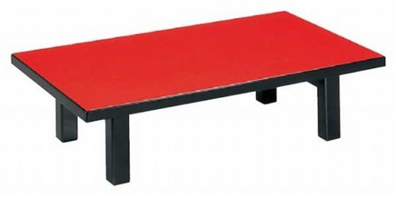 1289-05 メラミン朱 テーブル(折脚) 9-91- 8 550002800