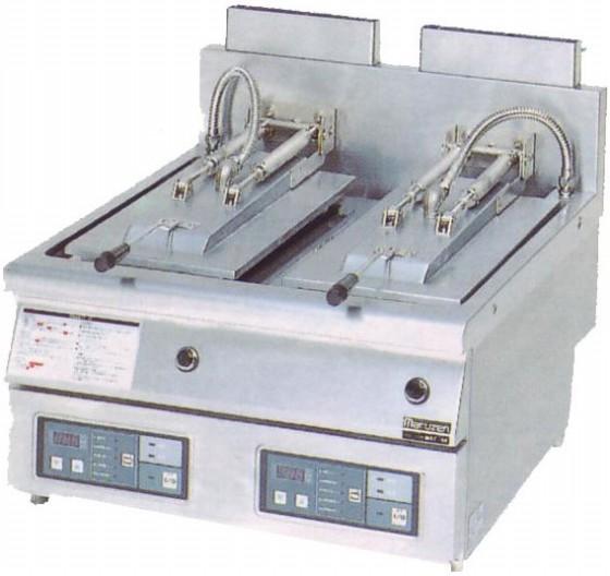 幅650 奥行750 マルゼン ガス自動餃子焼器 フタ固定タイプ MAZ-44