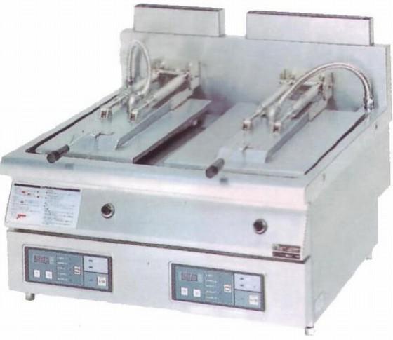 幅740 奥行750 マルゼン ガス自動餃子焼器 フタ固定タイプ MAZ-46