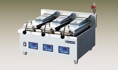 新品 幅600 奥行600 ニチワ電機 電気自動餃子焼器 3連式 卓上タイプ NGM-3-9AC