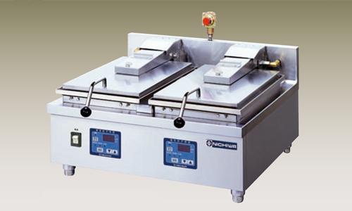新品 幅650 奥行600 ニチワ電機 電気自動餃子焼器 2連式 卓上タイプ NGM-5-6AC