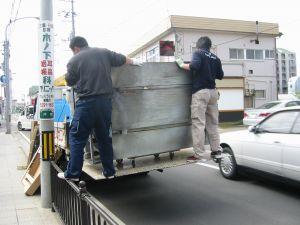 廃棄処分品を引き取り