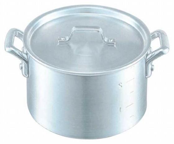 376-02 KO アルミ半寸胴鍋 目盛付 45cm 104010530