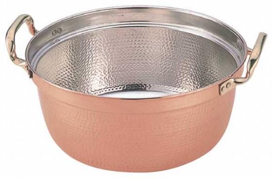 387-05 SW 銅料理鍋両手付 39cm 128018130