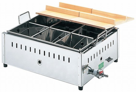 686-09 18-8関東煮鍋(マッチ点火) 尺4 18001610