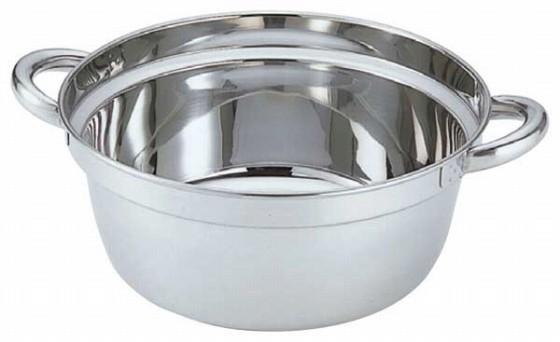 387-03 クローバー 18-8 段付料理鍋 27cm 22005460