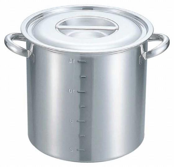 371-01 クローバー 電磁モリブデン寸胴鍋(目盛付) 27cm 22009980