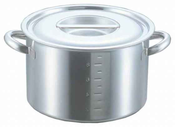 371-02 クローバー 電磁モリブデン半寸胴鍋(目盛付) 27cm 22010140