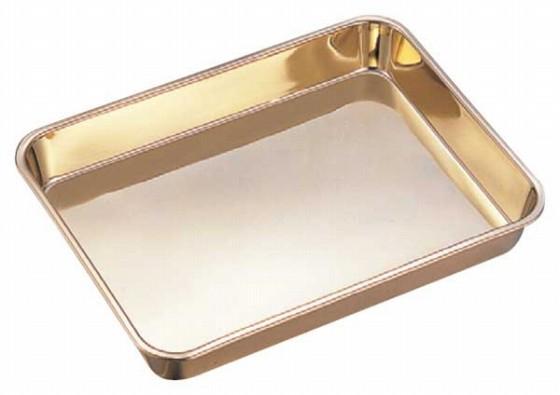 416-01 浅型角バット ゴールド仕上げ 12枚取 22010690