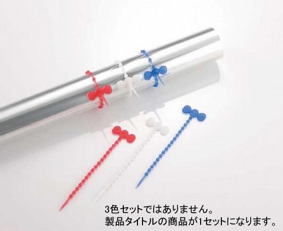 741-08 ストリング (シリコン製結びヒモ) 50個入 赤 322002010