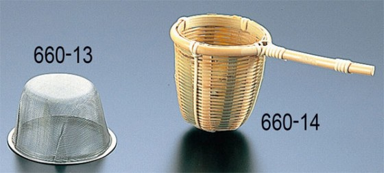 660-14 竹製茶こし 9cm 326000350