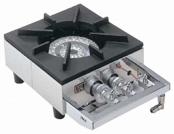 726-03 ガステーブルコンロ用兼用レンジ S-1220(1連、2重、受皿付) プロパン 337004460