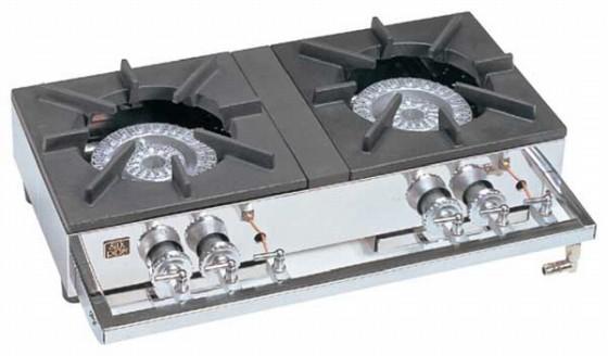 726-04 ガステーブルコンロ用兼用レンジ S-2220(2連、2重、受皿付) プロパン 337004480