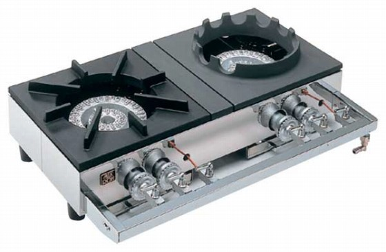 726-07 中華レンジS-2228(2連、2重、受皿付) 都市ガス 337004530