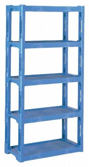 769-11 プラスチック棚-L ブルー 354001980