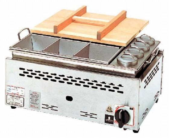 686-08 湯煎式おでん鍋 タンポ1合用付(自動点火) ONG-3015 379003220