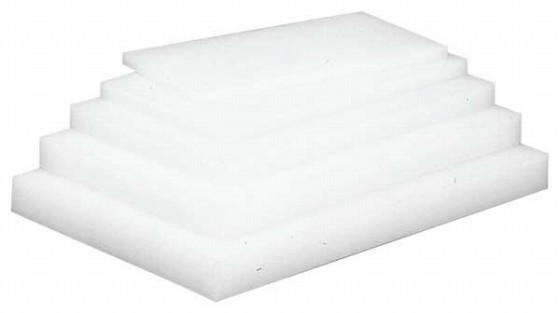 597-01 業務用まな板 ホワイトップ (ポリエチレン) 厚さ15mm 幅1500 奥行300 391005250