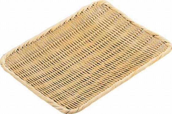 476-10 竹製角盆ザル 9寸 46002420