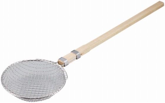 384-11 ENDO 強力ガラすくい網 木柄 21cm 46007560