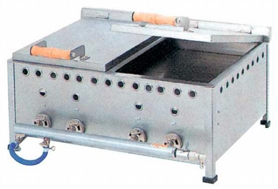 486-02 餃子焼器仕切付DX GSW13 都市ガス(12A、13A) 505000720