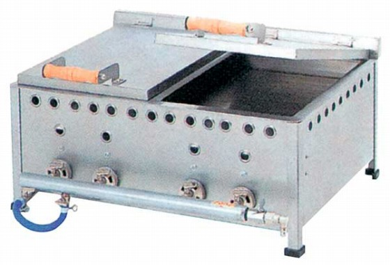 486-02 餃子焼器仕切付DX GSW20 プロパン 505000770