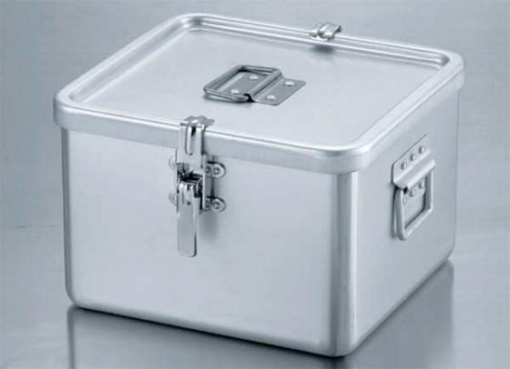 406-07 アルマイト角型二重食缶(クリップ付) 244-2 511001230