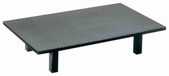 1285-06 宴メラミン黒乾漆(折脚) 9-55-25 550002100