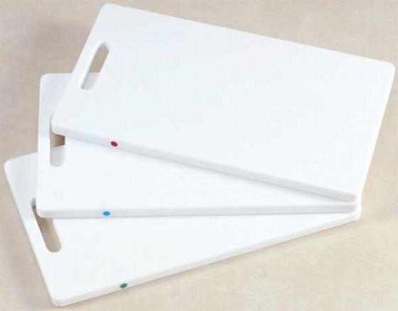 603-04 抗菌家庭用 ピン付まな板 K-41-B青 753001010
