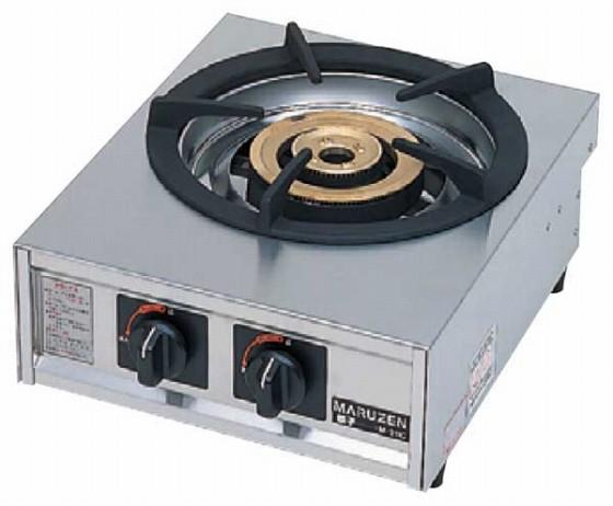 725-02 ガステーブルコンロ親子(自動点火) 一口コンロ M-211C プロパン 910000630
