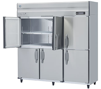 幅1800 奥行650 ホシザキタテ型冷蔵庫 ワイドスルー 容量1276L HR-180AT3-ML