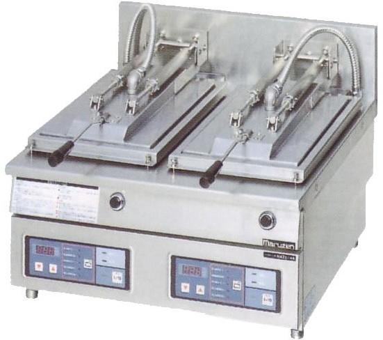 幅600 奥行600 マルゼン 電気自動餃子焼器 フタ固定タイプ MAZE-44