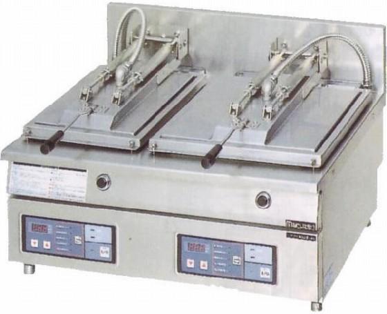 幅710 奥行600 マルゼン 電気自動餃子焼器 フタ固定タイプ MAZE-46