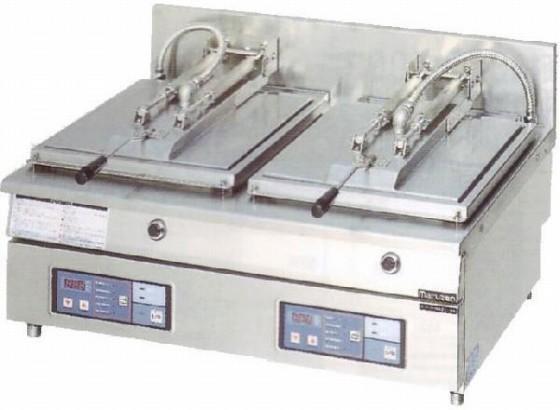 幅820 奥行600 マルゼン 電気自動餃子焼器 フタ固定タイプ MAZE-66