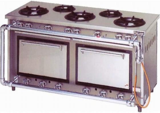 マルゼン スタンダードシリーズ ガスレンジ MGR-156DS 63.7kW