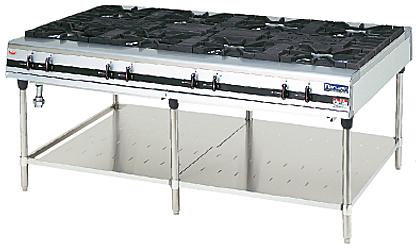 幅1800 奥行1200 マルゼン パワークック ガステーブル ファイヤースクリーンバーナー搭載 MGTX-1812F