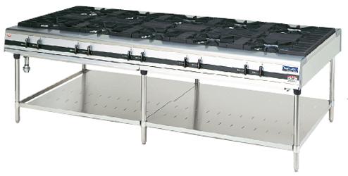 幅2400 奥行1200 マルゼン パワークック ガステーブル ファイヤースクリーンバーナー搭載 MGTX-2412F