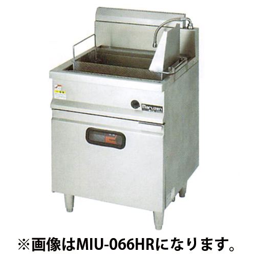 MIU-067HL IHうどん釜 マルゼン 左側反転カゴ仕様 幅750 奥行600