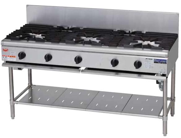 マルゼン NEWパワークックシリーズ ガステーブル 立ち消え安全装置搭載タイプRGT-S156