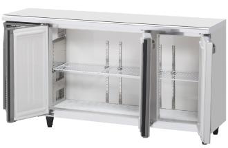 幅1500 奥行450 容量227L ワイドスルーホシザキ テーブル形冷蔵庫 内装カラー鋼板仕様 RT-150MTCG-ML